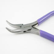 Beadsmith Super-fine Bent Chain Nose Jewellery, Bead, Craft Making Pliers with Spring