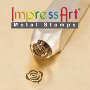 ImpressArt- 6mm, Rose Design Stamp