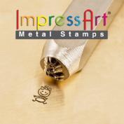 ImpressArt- 6mm, Baby Girl Stick Figure Design Stamp