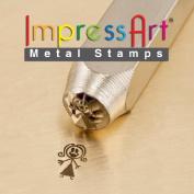 ImpressArt- 7mm, Mama Stick Figure Design Stamp