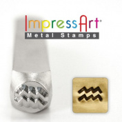 ImpressArt- 6mm, Aquarius Metal Stamp