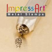 ImpressArt- 7mm, Auntie Stick Figure Design Stamp