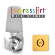 ImpressArt- 6mm, Theta Greek Letter Stamp