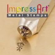 ImpressArt- 6mm, Abby Stick Figure Design Stamp