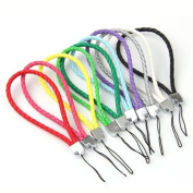 10 Braided Leather Cell Phone Wrist Strap Lanyard 0.4cm