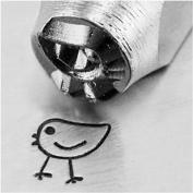 Impress Art Metal Punch Stamp 'Chickadee' 6mm (1/4 Inch) Design