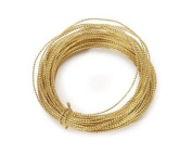 200 Feet of Gold Bowdabra Bow Wire for Making Bows, Floral Arranging, and Crafting- 4 Spools of 50 Feet for 200 Total Feet