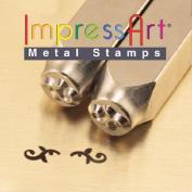 ImpressArt- 6mm, Flourish Ends K Design Stamps