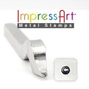 ImpressArt- 2.5mm, Copyright, Bent Shank Ring Stamp