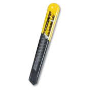 Stanley Products - Stanley - Straight Handle Knife w/Retractable 13-Point Snap-Off Blade, Black/Yellow - Sold As 1 Each - Just snap off the dull blade with pliers to get a sharp point. - For light-duty cutting and trimming. - Includes one 9 mm segmente ..