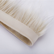 Neotrims Fake Faux Luxury Quality Two Tone Fur Trimming on Satin Ribbon Trim, For Costume, Crafts, Hoods & Coats Edging. 5 Earthy Natural Colours, Silky Fur Hairs, 7- 8 cms Long. Beautiful Soft Handle, Incredible Luxurious Feel.