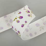 Neotrims English Rose Petersham Grosgrain Ribbon By The Yard, Widths 16, 25, 38mm. English Rose, Flower Ruban; A Floral Design, Best Quality Grosgrain Ribbon, Beautifully Soft and semi Lustrous Polyester Petersham Ribbon. 16mm, 25mm and 38mm Widths, so ..