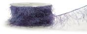 May Arts Ribbon, Blue and Purple Fuzzy Eyelash