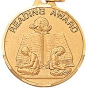 3.2cm Reading Award with Ribbon TE9905GC