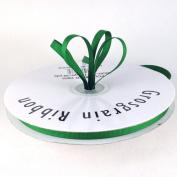 0.6cm Emerald Green Grosgrain Ribbon 50 Yards Spool Solid Colour.