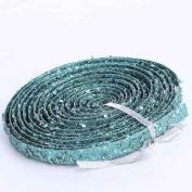 Versatile Glitter Garland Trim in Aqua Blue for Embellishing Crafting and Creating