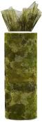 Expo International Camouflage Print 15cm Tulle Fabric Spool, 10-Yard, Green