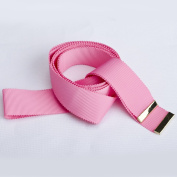 Neotrims Grosgrain Ribbon Tie & Knot Belt with Cute Gold Metal Plates Finish, Uniform, Apparel or Home Decoration as Tie backs. 7 Gorgeous Colours; Black, Pink, Red, White, Grey, Orange & Blue.