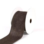 Creative Ideas Wired Burlap Ribbon, 6.4cm , Brown