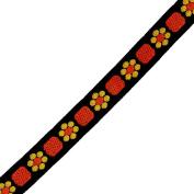 Venus Ribbon 1.3cm Floral Jacquard, 5-Yard