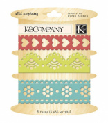 K & Company Adehsive Paper Ribbon - Wild Raspberry