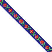 "5 yards 1/2"" WIDE 13mm Floral Woven Jacquard Ribbon Trim Tape"