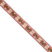 "5 yards 1/2"" WIDE 12mm Flowers Jacquard Ribbon JR185"