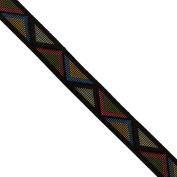 "5 yards 9/16"" WIDE 15mm Geometric Woven Jacquard Ribbon Trim Tape"