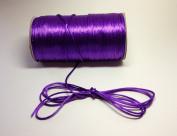 "100 Yards - 2mm(1/16"") Purple Satin Rattail Cord Chinese/china Knot Rat Tail Jewellery Braid 100% Polyester"