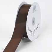 Chocolate Brown Satin Ribbon Single Face 2.5cm - 1.3cm 50 Yards