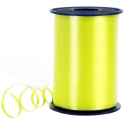 Morex Poly Crimped Curling Ribbon, 0.5cm by 500-Yard, Light Yellow