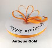 1cm Antique Gold Grosgrain Ribbon 50 Yards Solid Colour.
