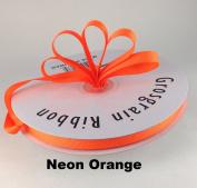 1cm Neon Orange Grosgrain Ribbon 50 Yards Solid Colour.