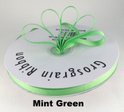 1cm Mint Green Grosgrain Ribbon 50 Yards Solid Colour.