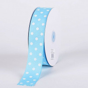 Baby Blue with White Dots Grosgrain Ribbon Polka Dot 1cm 50 Yards