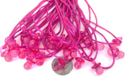 """24 Pcs 1.9cm Mini Fuchsia Plastic Pacifier Necklaces """"Don't Say Baby!"""" for Baby Shower Party Game/ Favours"""