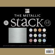 Metallic Cardstock Stack 30cm x 30cm -48 Sheets/Pad