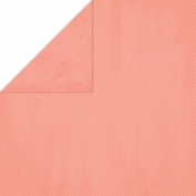 Double Dot Double-Sided Textured Design Cardstock 30cm x 30cm -Coral- 25 Pack