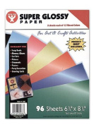 Hygloss Super Glossy Paper 22cm . x 28cm . assorted colours pack of 16 [PACK OF 3 ]