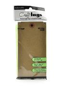 Ranger Inkssentials Craft Tags kraft #8 16cm . x 7.9cm . pack of 20 [PACK OF 4 ]