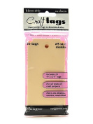 Ranger Inkssentials Craft Tags manila #5 12cm . x 6cm . pack of 20 [PACK OF 4 ]