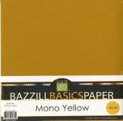 Bazzill Basics 30cm by 30cm 25-Sheet Cardstock, Yellow Assortment