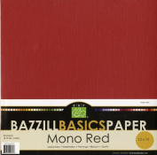 Bazzill Basics 30cm by 30cm 25-Sheet Cardstock, Red Assortment