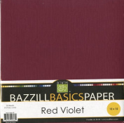 Bazzill Basics 30cm by 30cm 25-Sheet Cardstock, Red/Violet Assortment