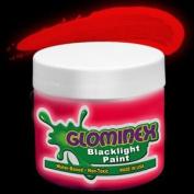Glominex Blacklight UV Paint 240ml Jar - Red