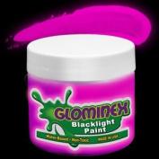Glominex Blacklight UV Paint 240ml Jar - Pink