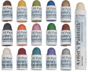 Jack Richeson Shiva Oil Paintstik, Mini Iridescent Assortment, Set of 16