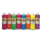 Nasco Country School Fluorescent Tempera Paint Set, 8 pt Bottle