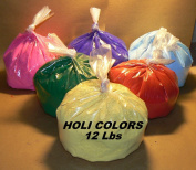 HOLI Colours 12 Lbs 6 colours (2lbs ea colour) RED, YELLOW, PINK, BLUE, GREEN, AND PURPLE - SHIPS FROM LOS ANGELES 3 TO 6.