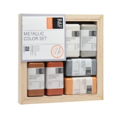 R & F Encaustic Paints Metallic Colours, Set of 6